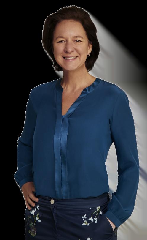 Voormalig CMO en Hellomaas founder CEO Louise Doorn poseert lachend