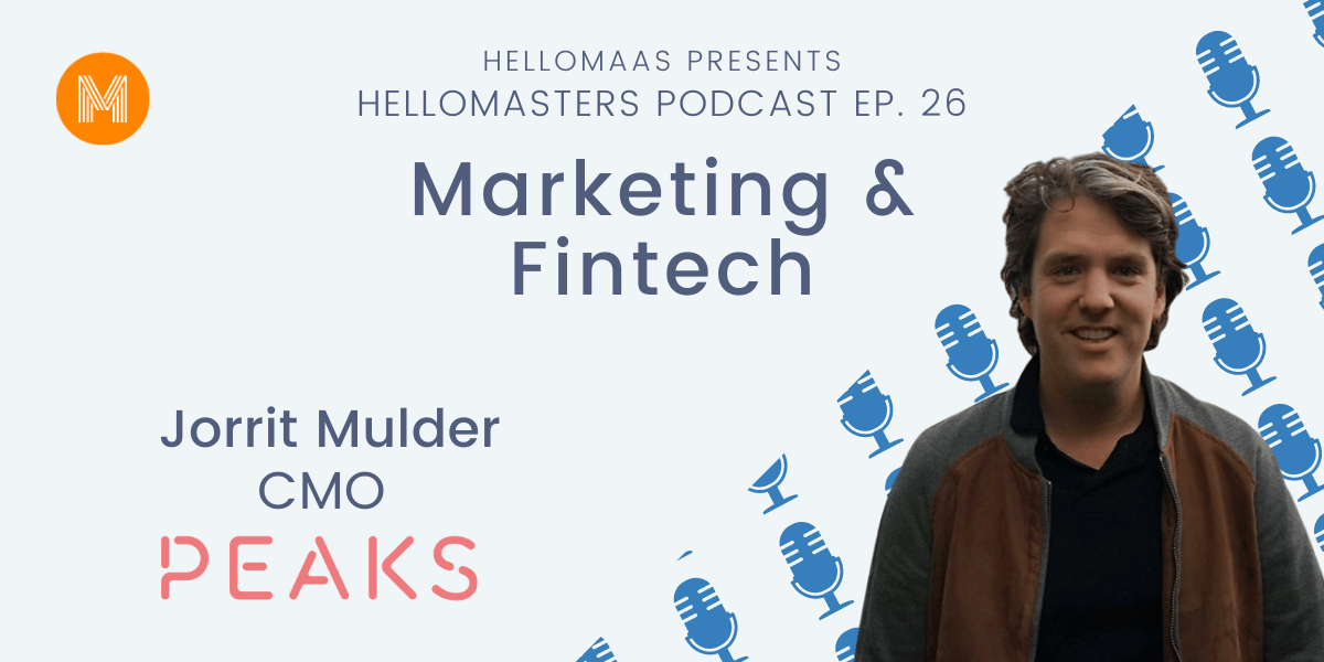 Hellomasters met Jorrit Mulder CMO Peaks